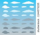 clouds icon set. vector. | Shutterstock .eps vector #1144573235