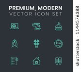 modern  simple vector icon set... | Shutterstock .eps vector #1144576388