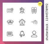 modern  simple vector icon set... | Shutterstock .eps vector #1144578992