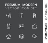 modern  simple vector icon set... | Shutterstock .eps vector #1144580408