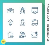 modern  simple vector icon set... | Shutterstock .eps vector #1144580432