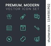 modern  simple vector icon set... | Shutterstock .eps vector #1144581902