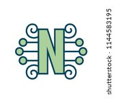 sign of the letter n. vector... | Shutterstock .eps vector #1144583195