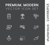 modern  simple vector icon set... | Shutterstock .eps vector #1144583915