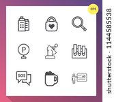 modern  simple vector icon set... | Shutterstock .eps vector #1144585538