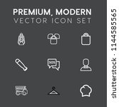 modern  simple vector icon set... | Shutterstock .eps vector #1144585565