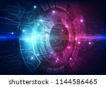 vector abstract futuristic... | Shutterstock .eps vector #1144586465