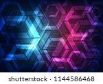 vector abstract futuristic... | Shutterstock .eps vector #1144586468