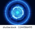 abstract technology concept... | Shutterstock .eps vector #1144586495