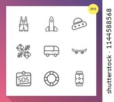 modern  simple vector icon set... | Shutterstock .eps vector #1144588568