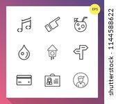 modern  simple vector icon set... | Shutterstock .eps vector #1144588622