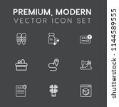 modern  simple vector icon set... | Shutterstock .eps vector #1144589555