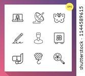 modern  simple vector icon set... | Shutterstock .eps vector #1144589615