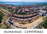 huge factory view from the... | Shutterstock . vector #1144590662