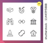 modern  simple vector icon set... | Shutterstock .eps vector #1144595888