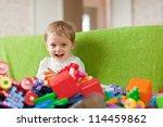 portrait of  three year child...   Shutterstock . vector #114459862