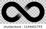 infinity symbol black   simple... | Shutterstock .eps vector #1144601795