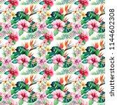 bright green herbal tropical...   Shutterstock . vector #1144602308
