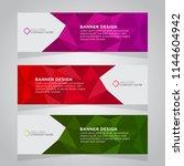 vector abstract banner design... | Shutterstock .eps vector #1144604942