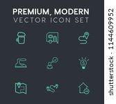 modern  simple vector icon set... | Shutterstock .eps vector #1144609952
