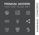 modern  simple vector icon set... | Shutterstock .eps vector #1144610012