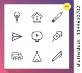 modern  simple vector icon set... | Shutterstock .eps vector #1144610702