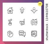 modern  simple vector icon set... | Shutterstock .eps vector #1144610708