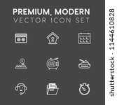 modern  simple vector icon set... | Shutterstock .eps vector #1144610828
