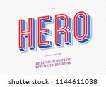 vector hero typeface trendy... | Shutterstock .eps vector #1144611038
