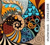 hand drawn ethno zentangle...   Shutterstock .eps vector #1144611848