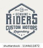 genuine riders   vintage tee... | Shutterstock .eps vector #1144611872