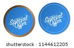 special offer stickers | Shutterstock .eps vector #1144612205