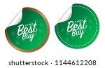 best buy stickers | Shutterstock .eps vector #1144612208