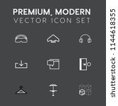 modern  simple vector icon set... | Shutterstock .eps vector #1144618355