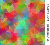 multicolored polygonal... | Shutterstock .eps vector #1144623998