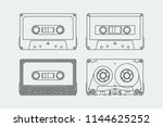 silhouettes of compact...   Shutterstock .eps vector #1144625252