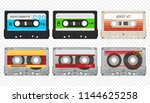 vector compact audio cassettes... | Shutterstock .eps vector #1144625258