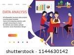 3d infographic business data... | Shutterstock .eps vector #1144630142