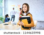 portrait of female student... | Shutterstock . vector #1144635998