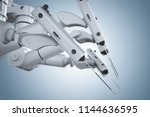 3d rendering robot surgery... | Shutterstock . vector #1144636595