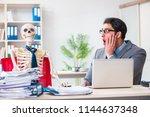 businessman working with... | Shutterstock . vector #1144637348
