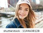 portrait closeup beautiful... | Shutterstock . vector #1144638128