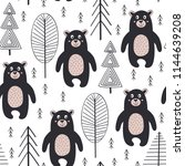 seamless pattern with bear in... | Shutterstock .eps vector #1144639208