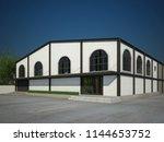 sketch design of house  3d...   Shutterstock . vector #1144653752