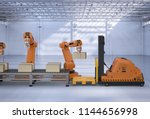 automatic warehouse concept... | Shutterstock . vector #1144656998