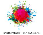 abstract vector splatter color... | Shutterstock .eps vector #1144658378