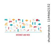 internet and web icons in flat...   Shutterstock .eps vector #1144662152