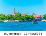 riverside of odra  wroclaw ... | Shutterstock . vector #1144665395
