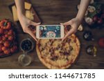 food blogger concept. young... | Shutterstock . vector #1144671785