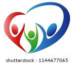 family love logo  | Shutterstock .eps vector #1144677065